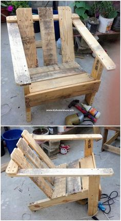 Distinctive DIY Home Furniture Ideas with Shipping Pallets: Most of the times learning about some beneficial and handy to do wooden pallet designs is lots a daunting task for the. Rustic Outdoor Furniture, Pallet Garden Furniture, Diy Home Furniture, Recycled Furniture, Furniture Ideas, Furniture Stores, Antique Furniture, Outdoor Pallet, Furniture Movers