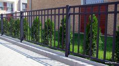 Znalezione obrazy dla zapytania nowoczesne ogrodzenia metalowe