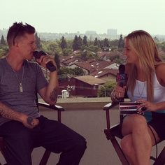 Chelsea chatting with Chris Rene