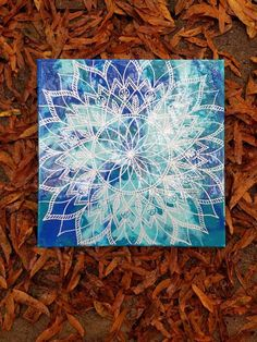 Check out this item in my Etsy shop https://www.etsy.com/listing/570442535/mandala-wall-art-sacred-geometry-blue