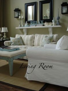Just Beachy   Living Room Designs   Decorating Ideas   Rate My Space   I Am  Not A Beachy Decor Fan, But Love The Double Mirror And Itu0027s Got Great  Dimmension ...