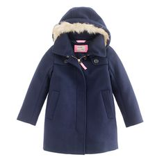 Girls' wool-cashmere duffle coat with Thinsulate® sept2012