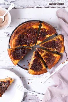 Pfälzer Rahmkuchen Rezept mit Zimt Karamellkruste und Mürbeteig
