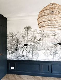 Discover recipes, home ideas, style inspiration and other ideas to try. Graphic Wallpaper, Wall Wallpaper, Bedroom Color Schemes, Colour Schemes, Deco Paris, Cheap Renovations, Bathroom Sink Design, Beds For Small Spaces, Interior Design Boards