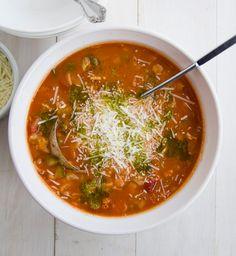 Minestrone Soup with Pesto Oil Drizzle Recipe - RecipeChart.com