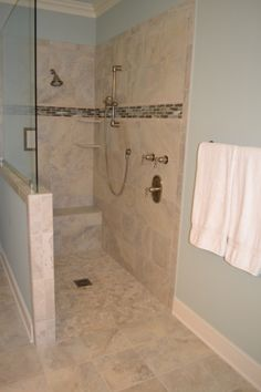 This new roll-in shower allows for more comfortable aging in place for the homeowners.