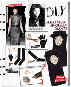 DIY mcqueen gloves
