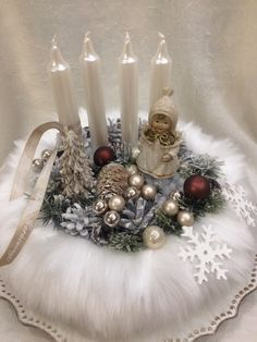 Christmas Nativity, Winter Christmas, Christmas Home, Christmas Wreaths, Easy Holiday Decorations, Wedding Centerpieces, Wedding Decorations, Christmas Arrangements, Diy Candles