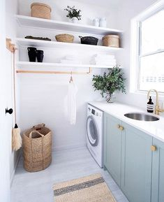 """Learn even more info on """"laundry room storage diy small"""". Browse through our internet site. Laundry Room Cabinets, Laundry Room Organization, Laundry Room Design, Laundry In Bathroom, Laundry Rooms, Basket Organization, Diy Cabinets, Cheap Cabinets, Laundry Decor"""