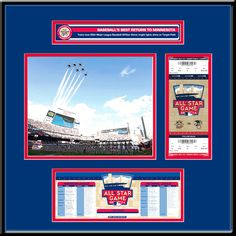 2014 MLB All-Star Game Ticket Frame Jr - Minnesota Twins - $95.99