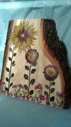 Pressed Flower Decor on Slice of Northern by FlowerFelicity, $49.99