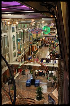 The Royal Promenade is the activity hub of the Explorer of the Seas. Shopping, parades, cafe, pubs...