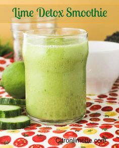 Lime Detox Smoothie. Great energy booster.