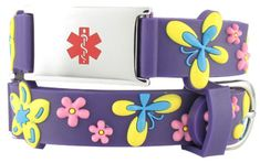 This purple band blooming with flowers and butterflies is perfect for your delicate little flower. Floral Butterfly Action Bracelet