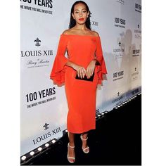@saintrecord kept it simple in a red #milly dress at the Louis XIII screening... #fashion #style #glam #stylish #instalike #instagood #styleblogger #fblogger #solange #fblogger #ameriesblog #Regrann