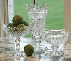 Entertaining with artisan made, Irish Waterford Crystal.  Beautiful.