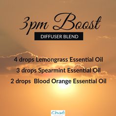 3pm Boost Diffuser Blend 4 drops Lemongrass Essential Oil 3 drops Spearmint Essential Oil 2 drops Blood Orange Essential Oil Organic Essential Oils, Essential Oil Uses, Drop, Diffuser Blends, Saving Money, Essentials, Pure Products, This Or That Questions, Orange