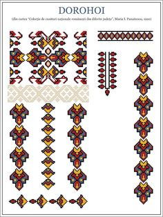Semne Cusute: martie 2013 Simple Cross Stitch, Cross Stitch Borders, Cross Stitching, Cross Stitch Patterns, Embroidery Sampler, Folk Embroidery, Embroidery Patterns, Knitting Patterns, Native Symbols