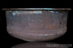 Large Suisse-made copper cheese vat - diameter — The Garden Vault Water Features In The Garden, Garden Features, Organic Gardening Magazine, Copper Vessel, Copper Planters, Water Garden, Antique Copper, Backyard, Antiques