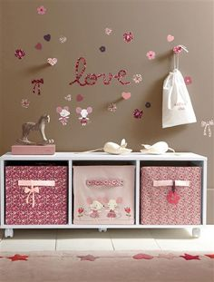 Stylish Toy Storage Ideas to Make Your Kid's Playroom Look Neat - mybabydoo Baby Bedroom, Baby Room Decor, Girls Bedroom, Bedroom Decor, Toy Storage, Storage Ideas, Storage Boxes, Little Girl Rooms, Kids Decor