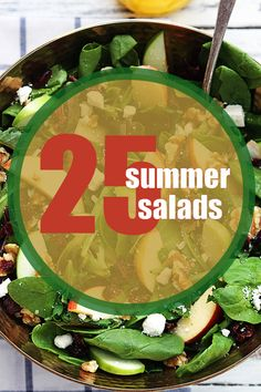 25 Summer Salads you should try!
