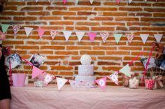 Sweet table - Baptême Agathe - thème Liberty #baptism #baptême #candybar