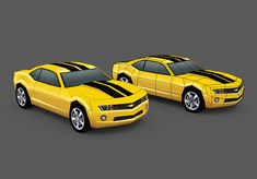 Create a Low Poly Camaro in Blender: Part 2 by Karan Shah, Learn how to create an extremely low poly Chevy Camaro using Blender in the two-part series from Karan Shah. Blender 3d, Zbrush, Image Nice, Low Poly Car, Maya, Micro Rc, Camaro Models, Car 3d Model, Cinema 4d Tutorial