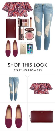 """""""Untitled #32"""" by valerialeonetty on Polyvore featuring moda, Frame, Boohoo, H&M, FingerPrint Jewellry, Paul Smith y Charlotte Tilbury"""