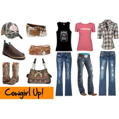 Cowgirl Up!, created by lacy-bilderback on Polyvore