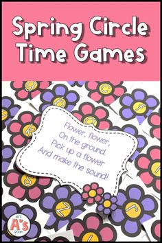These fun spring circle time games cover letters, numbers, colors, shapes, and more! Your preschool kiddos will beg to play them again and again! #mrsasroom Number Games Preschool, Preschool Activities At Home, Preschool Speech Therapy, Language Activities, Childcare Activities, Preschool Literacy, Spring Activities, Kindergarten Classroom, Family Activities