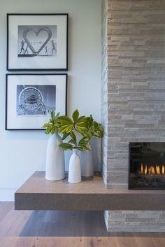 Fireplace Tv Wall, Fireplace Remodel, Modern Fireplace, Living Room With Fireplace, Fireplace Surrounds, Fireplace Design, Home Living Room, Living Room Designs, Fireplace Ideas