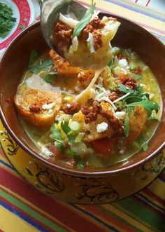 Green chili and cheese soup