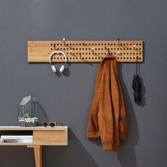 Horizontal coat rack we do wood Bamboo Furniture, Diy Furniture, Furniture Design, Diy Casa, Coat Hanger, Coat Racks, Wall Coat Rack, Hanging Coat Rack, Diy Coat Rack