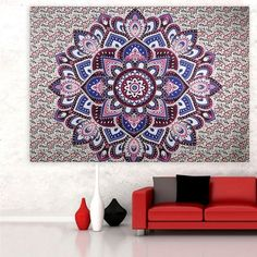 Mandala Tapestry Wall Hanging - Yoga/Beach/Blanket (Multiple Colors and Styles)