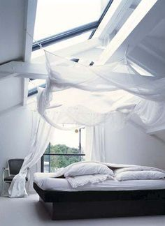 what a lovely way to sleep...  you feel like you're on clouds :D