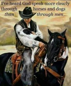 Cowboy and his border collie <3