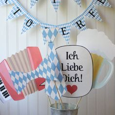 Oktoberfest PHOTO BOOTH PROPS Printable diy by silhouetteshop