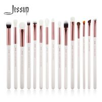 Jessup Perle Blanc/Rose Or Professionnel Maquillage Pinceaux Make up Brush Outils kit Eye Liner Shader naturel-synthétique cheveux