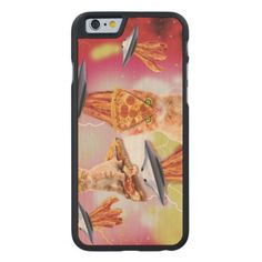 alien cats and the ufos carved® maple iPhone 6 case