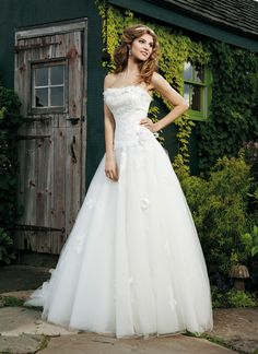 Gera_Sincerity brautkleid style 3609 This ball gown has a beautiful tulle skirt and a satin bodice