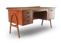 Mid Century looking AND with drawers???  Come to mama.  Jay Desk - Thrive Furniture