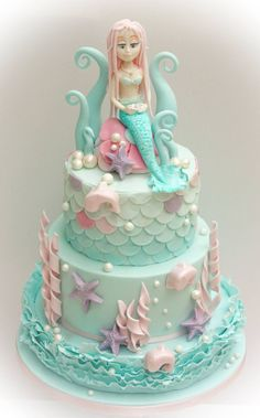 Image result for mermaid themed cake