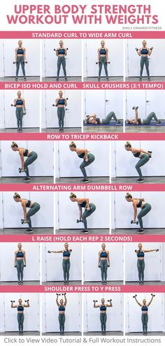 Upper Body Workout Gym, Upper Body Strength Workout, Upper Body Workout For Women, Weights Workout For Women, Weight Lifting Workouts, Body Workout At Home, Gym Workout For Beginners, Back Workouts For Women, Beginner Upper Body Workout