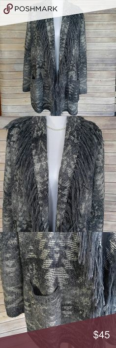 Denim & Supply fringe cardigan sweater Fringed cardigan (no buttons). Front pockets. Extremely cozy, comfortable, and warm, it just doesn't get cold enough here :( Denim & Supply Ralph Lauren Sweaters Cardigans