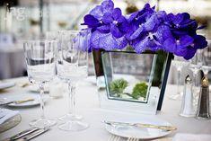 table setting Greenhouse Wedding, Purple Flowers, Floral Arrangements, Table Settings, Centerpieces, Simple, Flower Arrangements, Table Centerpieces, Flower Arrangement