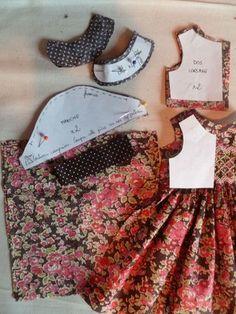 Cheries Robe À Smocks*** - Ma P'ti - Diy Crafts Baby Dress Patterns, Sewing Patterns Girls, Dress Making Patterns, Doll Clothes Patterns, Sewing Clothes, Clothing Patterns, Diy Crafts Dress, Moda Kids, Baby Girl Skirts