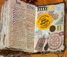 Mixed-media travel journal