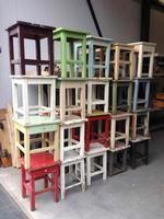 old stools in original collors
