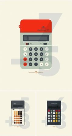 vintage calculators from Justin Skeesuck.