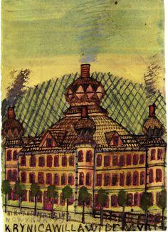 """""""Łazienki Mineralne w uzdrowisku"""", lata 30., Muzeum Okręgowe, Nowy Sącz"""